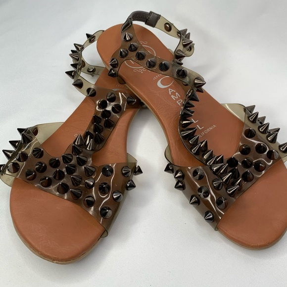 Jeffrey Campbell Puffer Pewter Spike Sandal